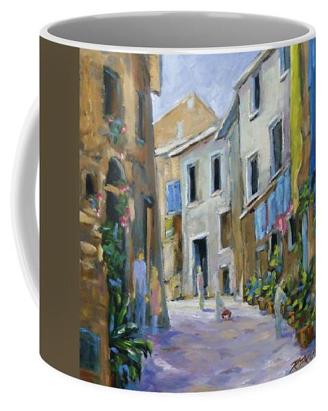 Urban Coffee Mug featuring the painting Back Street by Richard T Pranke