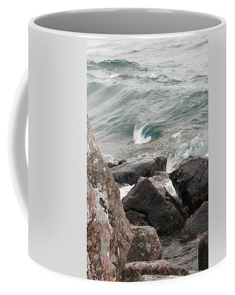 Wave Coffee Mug featuring the photograph Back Swirl by Kelly Mezzapelle