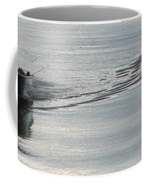 Lake Coffee Mug featuring the photograph Back To The Dock by Kelly Mezzapelle