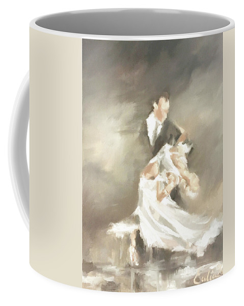 Dance Coffee Mug featuring the painting Backbend by Eulia Neal