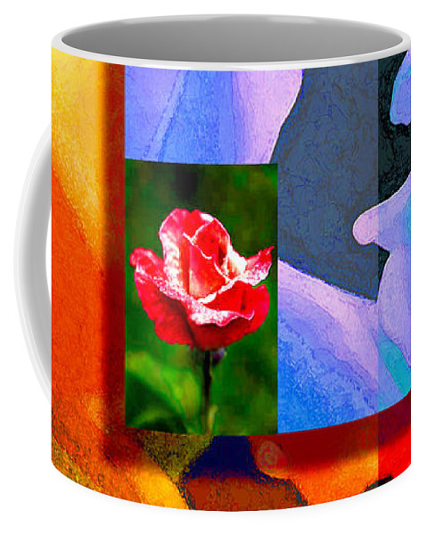 Modern Coffee Mug featuring the digital art Backlit Roses by Stephen Lucas