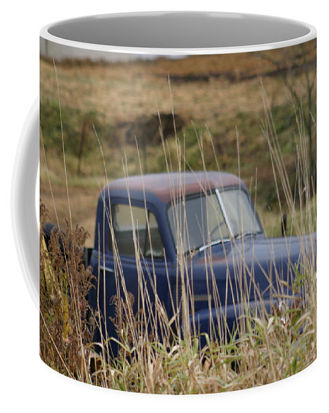 Backyards Coffee Mug featuring the photograph Backyard Blues by Bjorn Sjogren