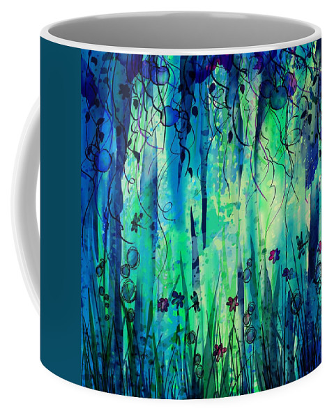 Abstract Coffee Mug featuring the digital art Backyard Dreamer by William Russell Nowicki