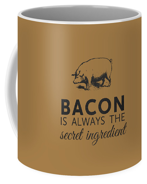 Bacon Coffee Mug featuring the digital art Bacon is Always the Secret Ingredient by Nancy Ingersoll
