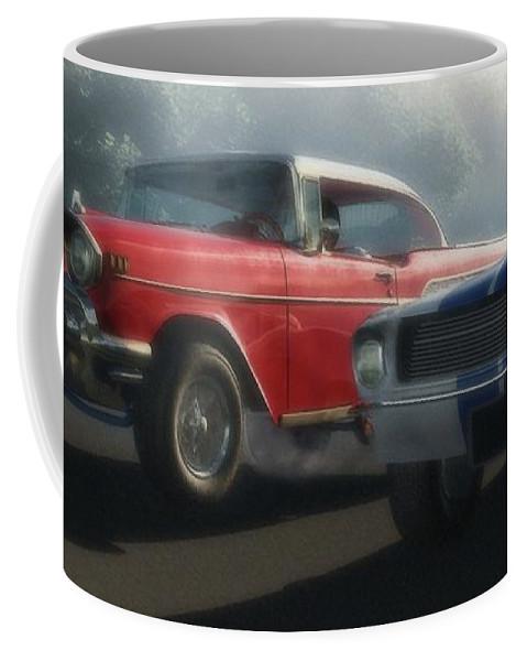Hot Rods Coffee Mug featuring the digital art Bad Company by Richard Rizzo