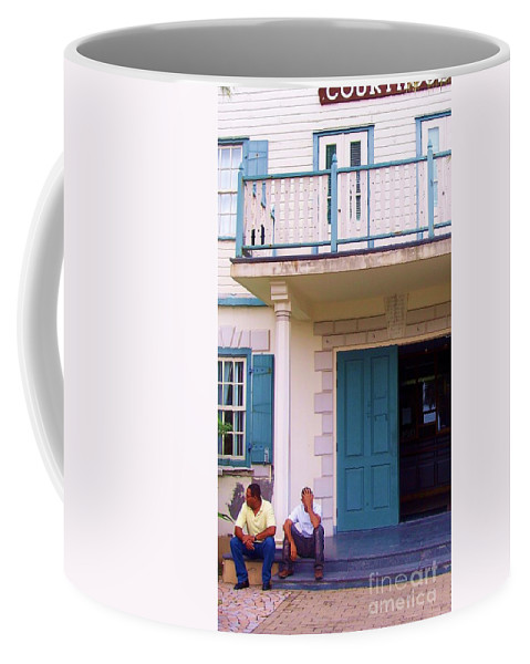 Building Coffee Mug featuring the photograph Bad Day In Court by Debbi Granruth