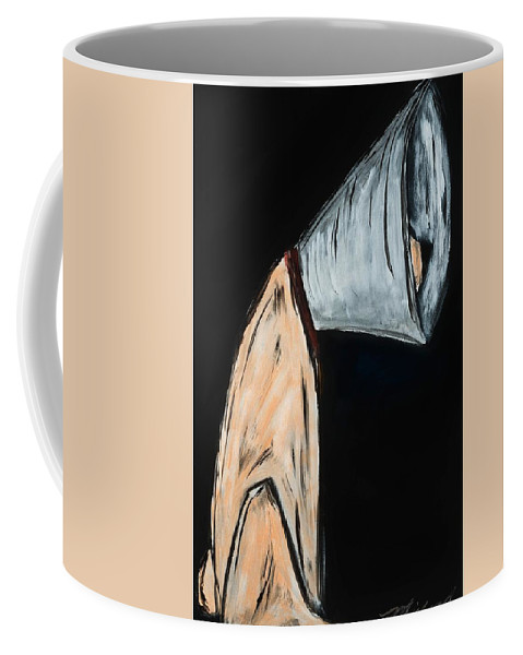 Dog Coffee Mug featuring the painting Bad Day by Shari Michaud
