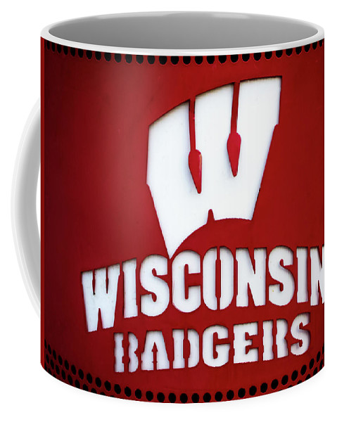 Wisconsin Coffee Mug featuring the photograph Badgers by Rockland Filmworks