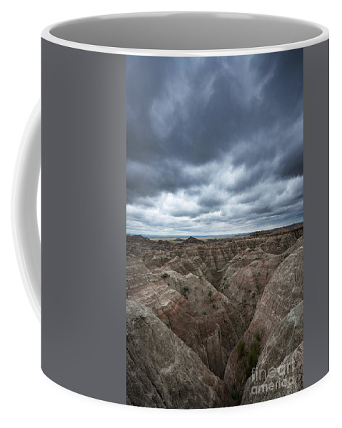 The Badlands Coffee Mug featuring the photograph Badlands White River Valley by Michael Ver Sprill