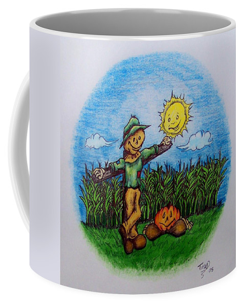 Michael Coffee Mug featuring the drawing Baggs And Boo by Michael TMAD Finney