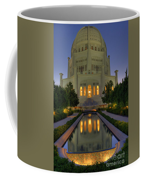 Bronstein Coffee Mug featuring the photograph Bahai Temple by Sandra Bronstein