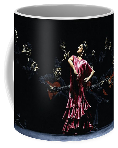 Flamenco Coffee Mug featuring the painting Bailarina Orgullosa Del Flamenco by Richard Young