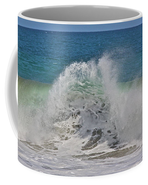 Sea Coffee Mug featuring the photograph Baja Wave by Diana Hatcher