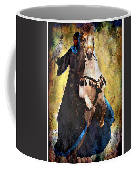 Rearing Horse Coffee Mug featuring the photograph Bakhtiari Falconess by Anastasia Savage Ealy