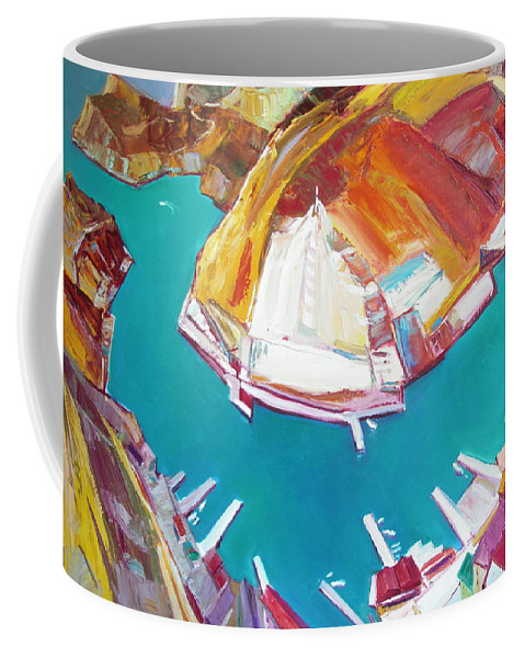 Ignatenko Coffee Mug featuring the painting Balaklaw Bay by Sergey Ignatenko