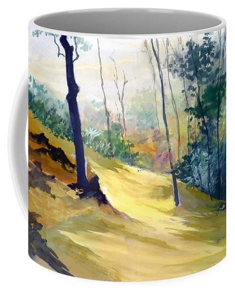 Landscape Coffee Mug featuring the painting Balance by Anil Nene