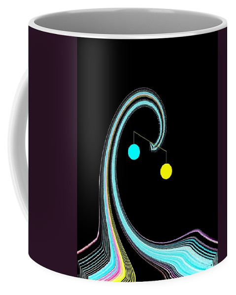 Abstract Coffee Mug featuring the digital art Balance by Will Borden