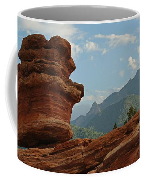 Colorado Coffee Mug featuring the photograph Balanced Rock by Ernie Echols