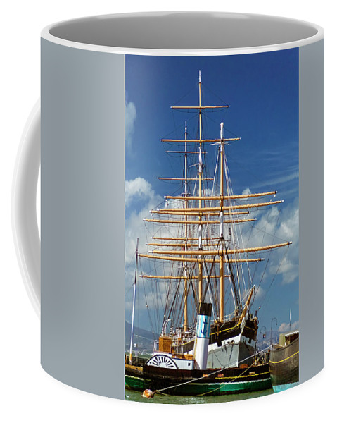 National Park Coffee Mug featuring the photograph Balclutha Mast And Rigging by Greg Reed