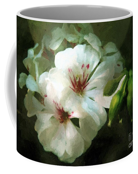 Classical Coffee Mug featuring the painting Balcony Beauty by RC DeWinter