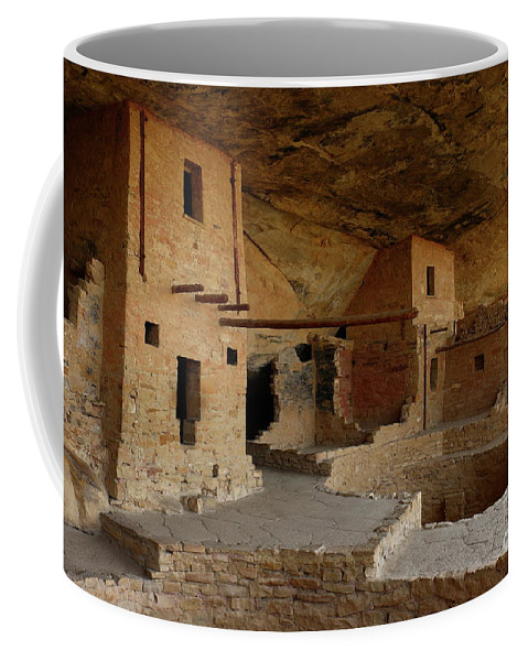 Mesa Coffee Mug featuring the photograph Balcony House View by Christiane Schulze Art And Photography
