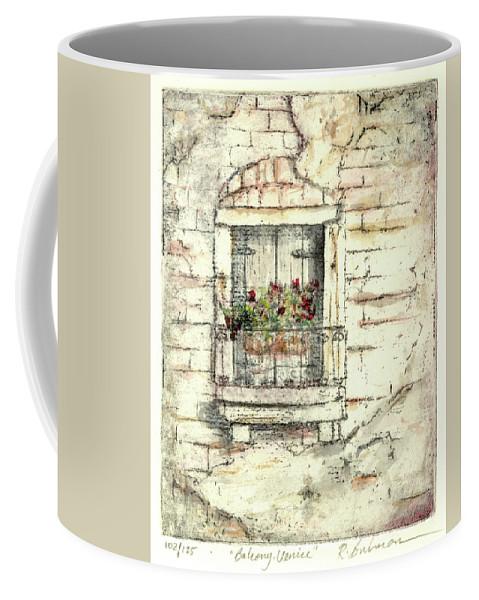 Venice Coffee Mug featuring the painting Balcony Venice by Richard Bulman