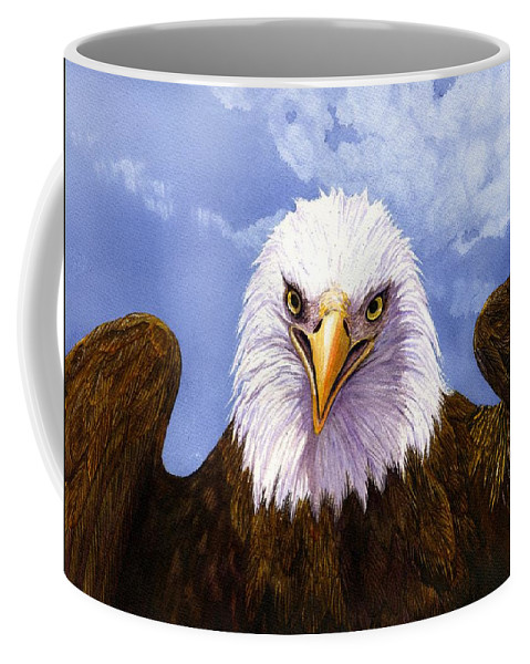 Eagle Coffee Mug featuring the painting Bald Eagle by Catherine G McElroy