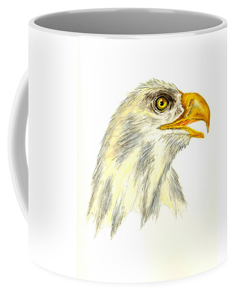 Bird Coffee Mug featuring the painting Bald Eagle by Michael Vigliotti