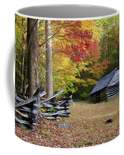Appalachians Coffee Mug featuring the photograph Bales Barn by Lana Trussell