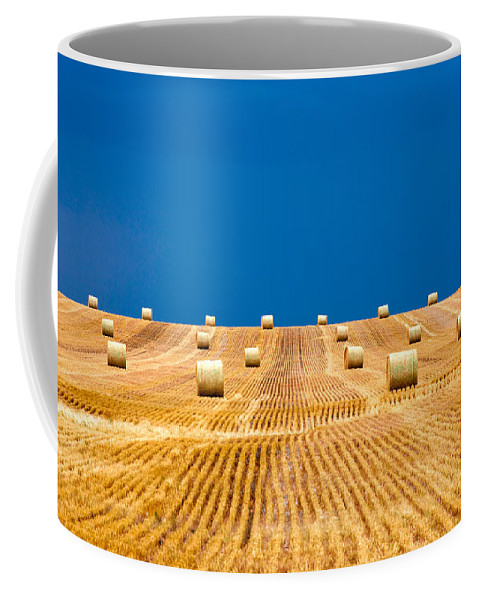 Field Coffee Mug featuring the photograph Bales On The Storm by Todd Klassy