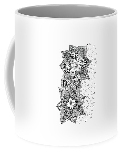 Bali Coffee Mug featuring the drawing Bali Holiday by Sally Bosenburg