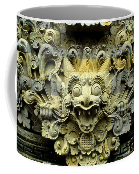Bali Coffee Mug featuring the photograph Bali Temple Art by Jerry McElroy