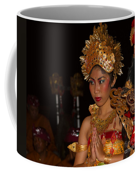 Dancer Coffee Mug featuring the photograph Balinese Dancer by Louise Heusinkveld