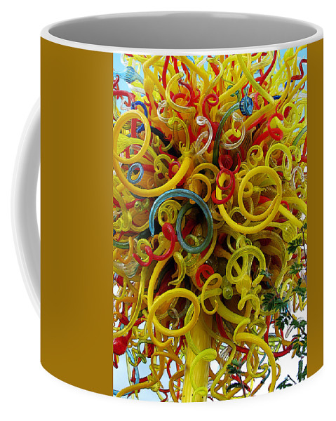 Glass Coffee Mug featuring the photograph Ball Of Chihuly Glass by John Haldane