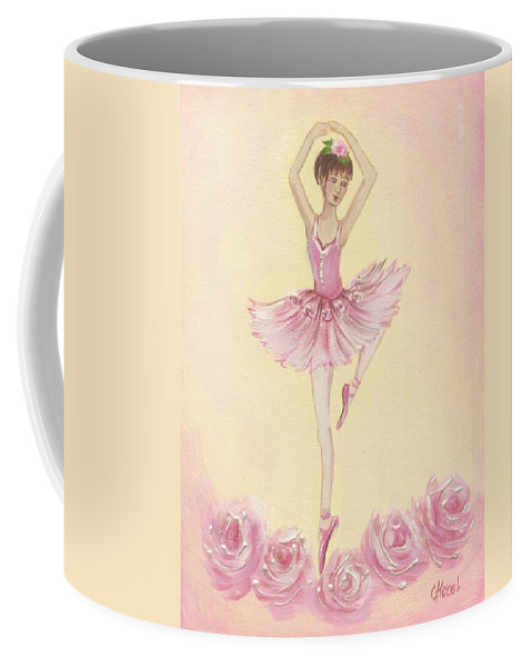 Ballet Coffee Mug featuring the painting Ballerina Beauty Painting by Chris Hobel