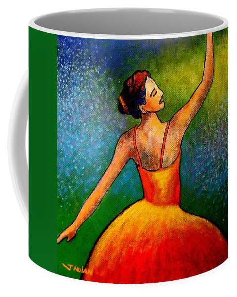 Ballerina Coffee Mug featuring the painting Ballerina by John Nolan