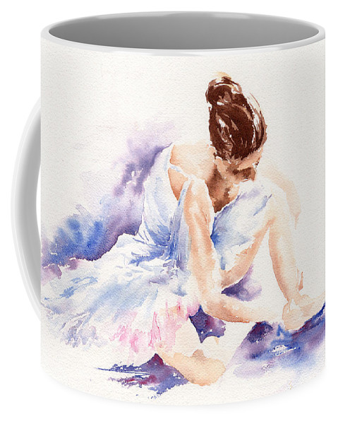 Ballerina Coffee Mug featuring the painting Ballerina by Stephie Butler