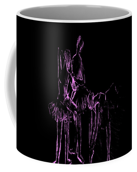 Ballet Coffee Mug featuring the digital art Ballet Before The Curtain Rises by Movie Poster Prints