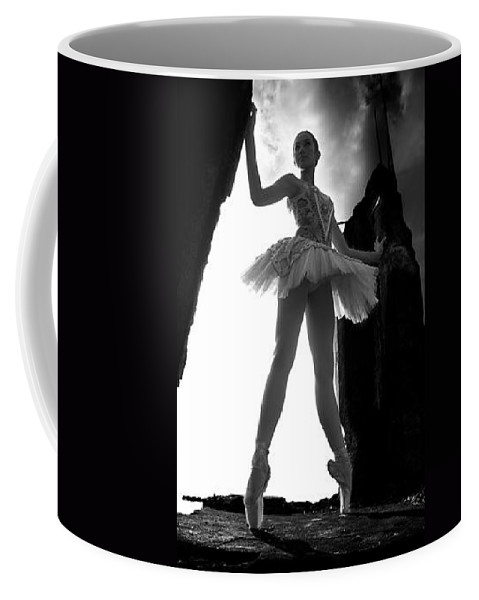 Ballet Dancer Coffee Mug featuring the photograph Ballet Dancer1 by George Cabig