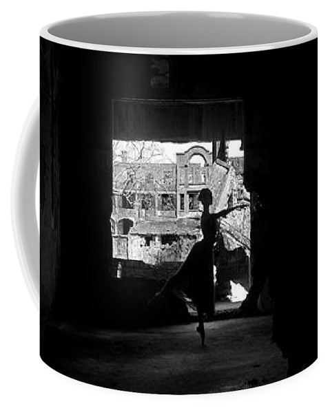 Ballet Dancer Coffee Mug featuring the photograph Ballet Dancer10 by George Cabig