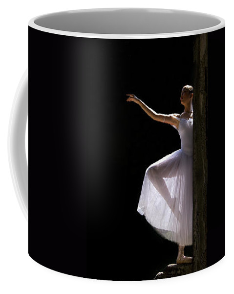 Ballet Dancer Coffee Mug featuring the photograph Ballet Dancer6 by George Cabig
