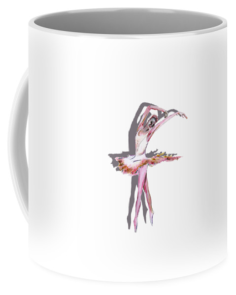 Dancing Coffee Mug featuring the painting The Ballerina Dance Art Remix by Tom Conway