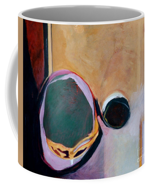 Abstract Coffee Mug featuring the painting Ballistic by Marlene Burns