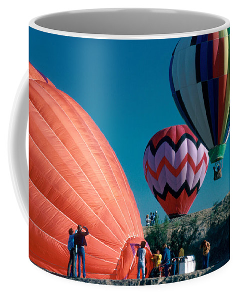 Hot Air Balloon Coffee Mug featuring the photograph Ballon Launch by Jerry McElroy