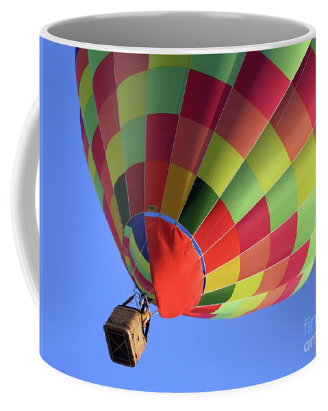 Volo Coffee Mug featuring the photograph Balloon by Ilaria Andreucci