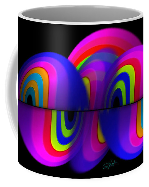Rainbow Coffee Mug featuring the painting Balls by Charles Stuart