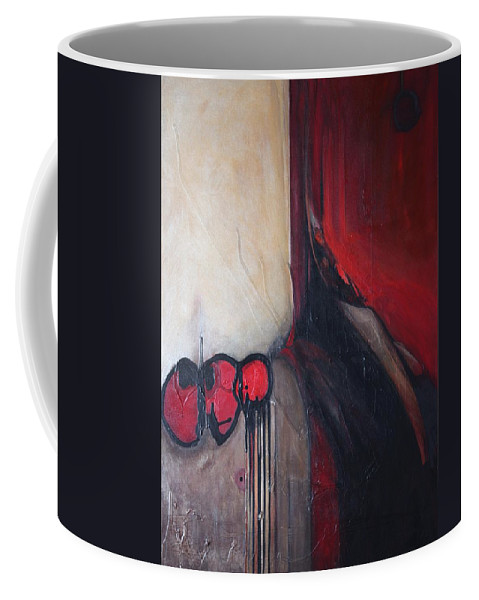 Abstract Coffee Mug featuring the painting Ballz by Marlene Burns