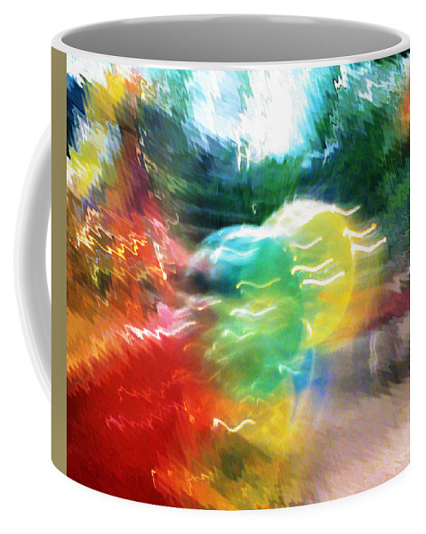 Baloons Coffee Mug featuring the painting Baloons N Lights by Anil Nene
