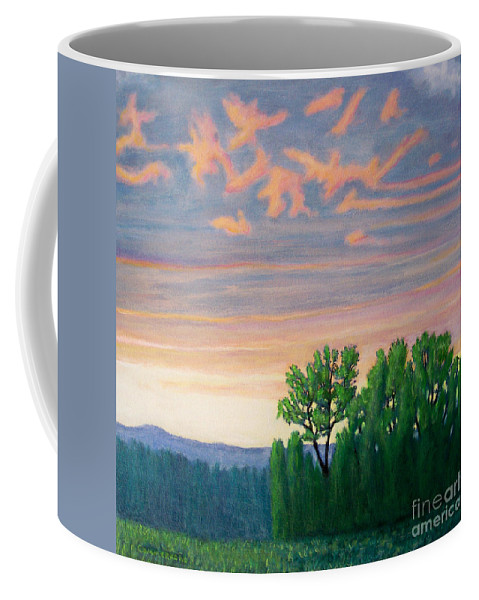 Landscape Coffee Mug featuring the painting Balsa Road by Brian Commerford
