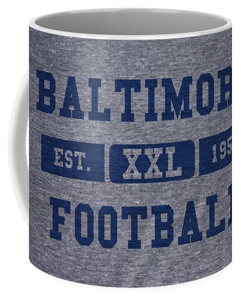 Colts Coffee Mug featuring the photograph Baltimore Colts Retro Shirt by Joe Hamilton